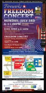 Fireworks at EDH Town Center July 3rd