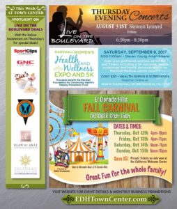 Thursday Evening Concert Aug 31st | Fall Carnival Coming to EDH Town Center October 12-15th