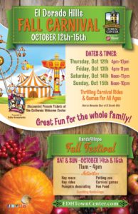 WELCOME OCTOBER | EDH Town Center | Fall Carnival | Fall Festival | Family Fun